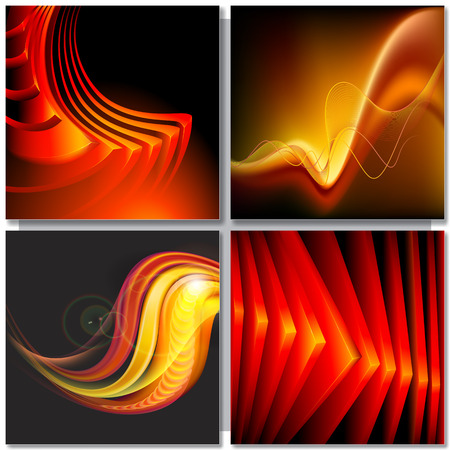 swirls vector: Abstract golden red background with angles and swirls. Vector Illustration