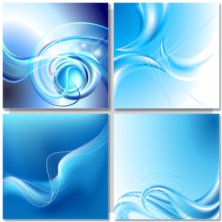 spinning: Abstract blue wave background