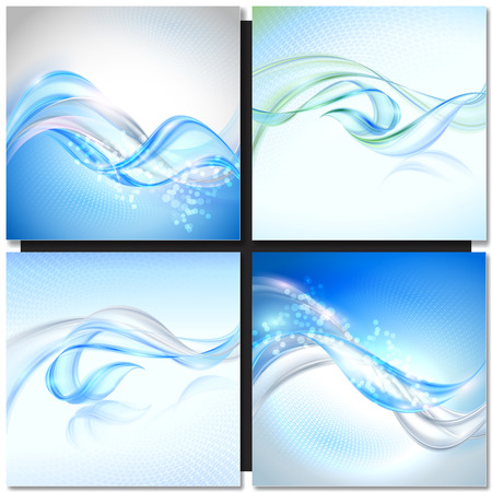 blue wave: Abstract Blue Transparent Wave Background