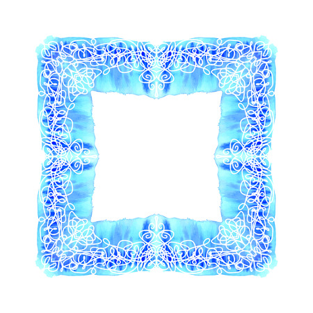 old square: Abstract vector square ornamental border frame. Lace pattern design. For banner, web design, wedding cards and others