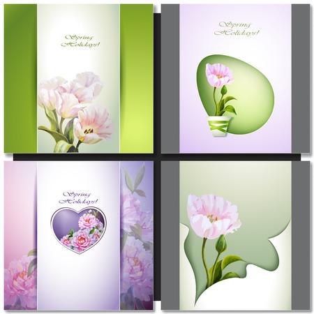 Été fleurs invitation carte de modèle. Vecteurs