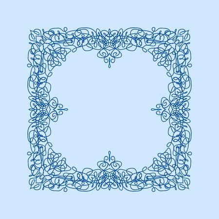 encaje: Resumen de vectores cuadrados marco de la frontera ornamental. Patr�n de dise�o de encaje. Para bandera, dise�o de p�ginas web, tarjetas de boda y otros
