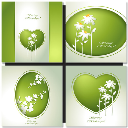 greating card: Spring flower background for design invitations, greating card Illustration