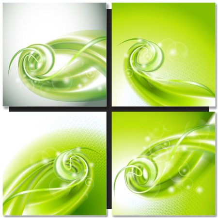green swirl: Abstract green swirl wave background
