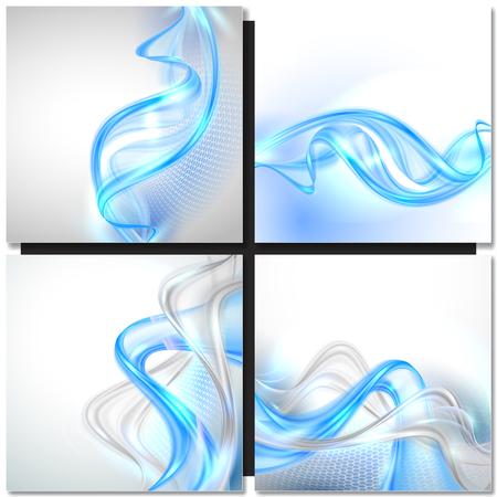 modern background: White abstract modern background with blue waves