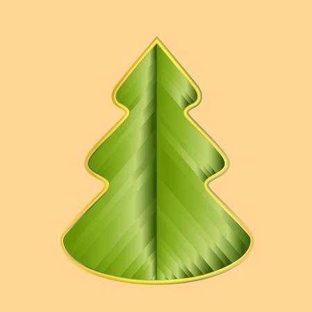 moños navideños: Tarjeta de felicitación con el árbol de Navidad creativa hecha de cintas