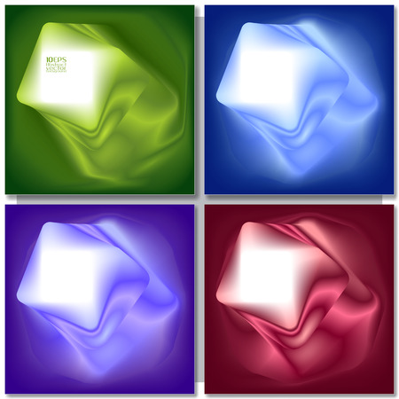 vector backgrounds: Set of abstract colorful square backgrounds. Vector design