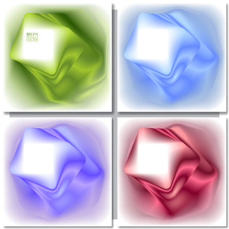 square abstract: Set of abstract colorful square backgrounds. Vector design