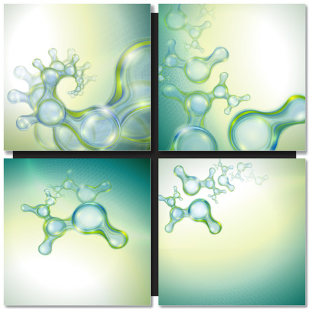 medicine background: Abstract background with organic molecules Illustration