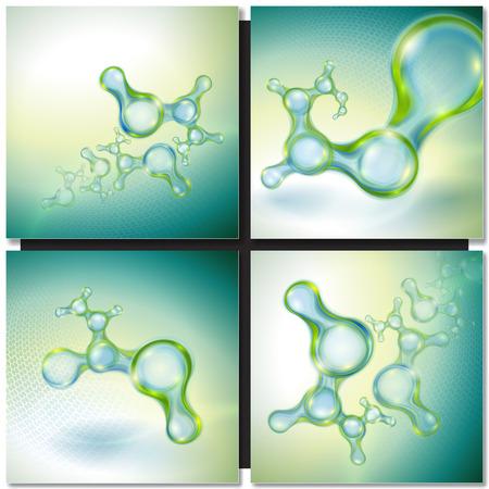 Abstracte achtergrond met organische moleculen