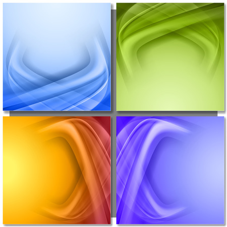green backgrounds: Set of abstract color vector background.  Corner from light and shadow Illustration