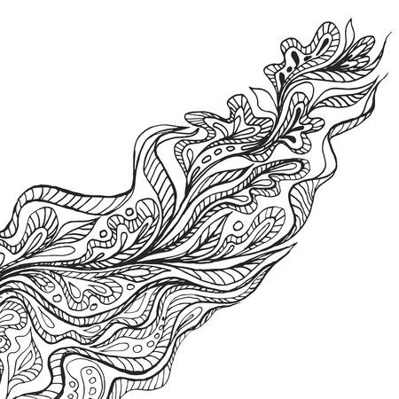 Schwarz Hand gezeichnet Doodle-Rahmen auf weißem Hintergrund. Vektor-Illustration. Standard-Bild - 46080578