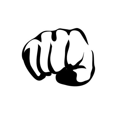 contour: Vector Line Contour Graphic Art Fist