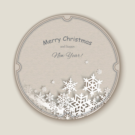 greeting card background: Christmas snowflakes. Creative Greeting Card. Vector background