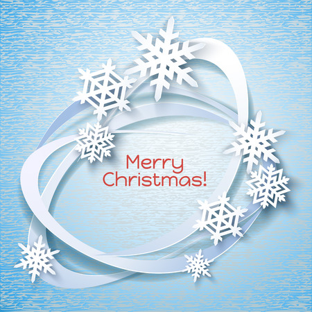 fiambres: Marco de vacaciones de los copos de nieve. Invierno azul para la invitaci�n de la bandera del Web. Fondo de la Navidad.