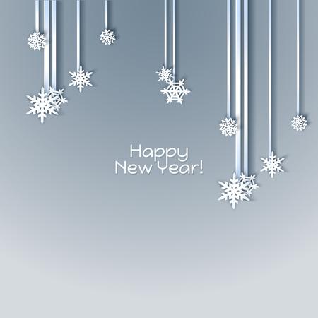 fiambres: Marco de vacaciones de los copos de nieve. Invierno azul para la invitación de la bandera del Web. Fondo de la Navidad.