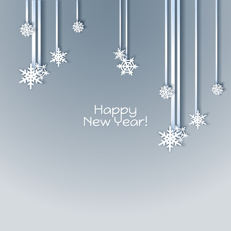 cold cuts: Snowflakes holiday frame. Winter blue card for web banner invitation. Christmas background.