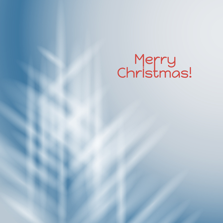shaped: Abstract blue background with white rays shaped Christmas tree Illustration