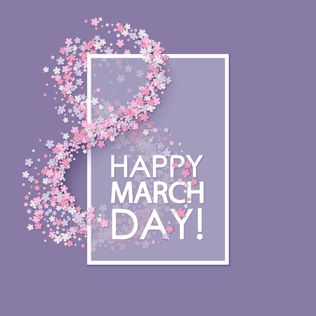 Women day background with flowers Vectores