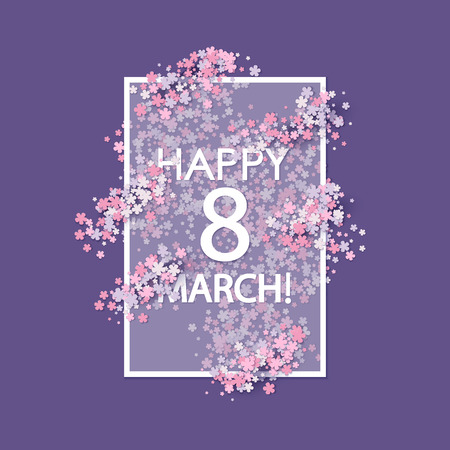 valentine day: Women day background with flowers Illustration