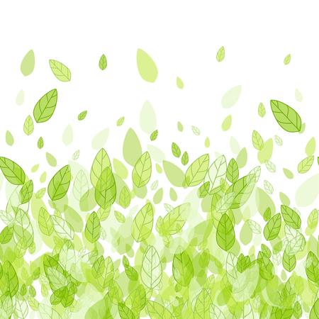 Seamless green strip background with leaves Imagens - 50879041