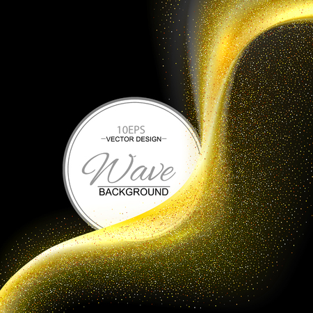 wave vector: Gold abstract wave vector background