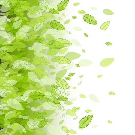 Naadloze groene strook achtergrond met bladeren