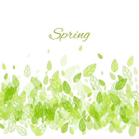 lush: Beautiful spring background with green leaves