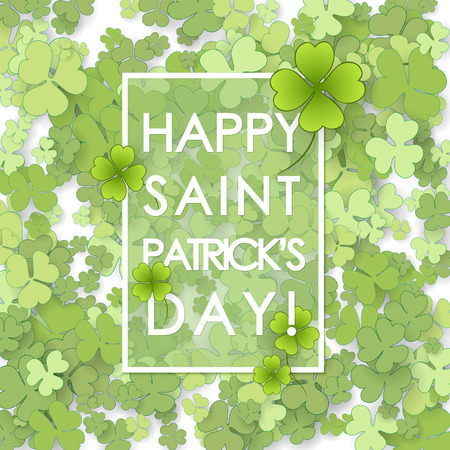 lucky clover: St Patricks Day background. Vector illustration for lucky spring design with shamrock.
