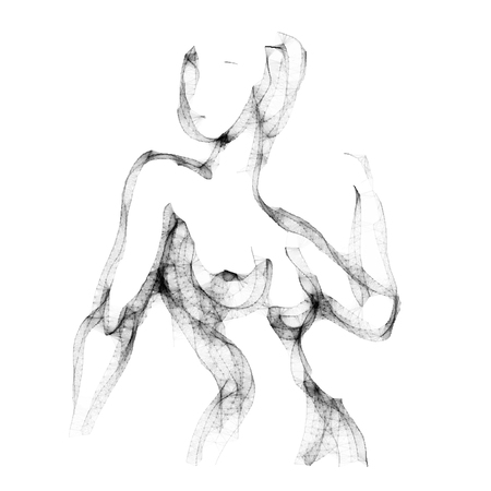 naked female body: Silhouette of beautiful nude  woman vector illustration. Sketch artwork of woman body. Illustration