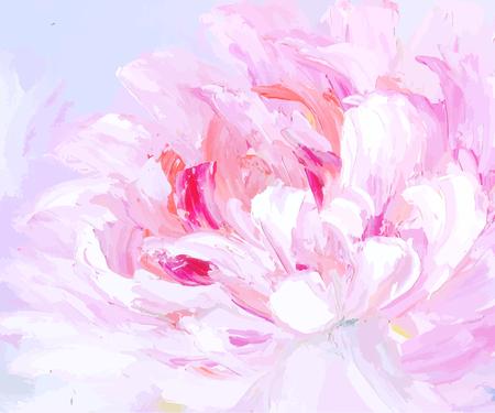 Ursprüngliche abstrakte Hand gezeichneter Ölgemäldehintergrund. Florale Vektor-Illustration. Helle Blume