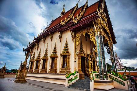 The Marble Temple in Thailand name watbencha Stock Photo