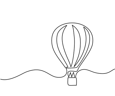 Hot air balloon Vector illustration Çizim