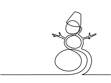 Christmas winter Snowman.