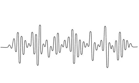 Sound wave shape with different amplitude.