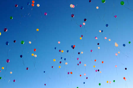 Balloons in the sky, is faith in the best and hope that fulfill a dream photo