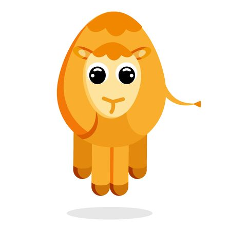 camel in flat style vector image  イラスト・ベクター素材