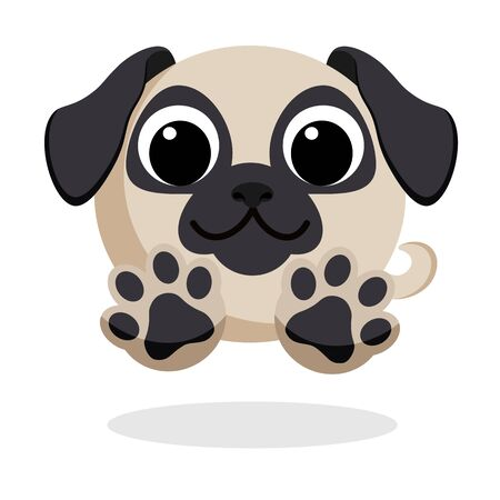 dog in flat style vector image Ilustrace