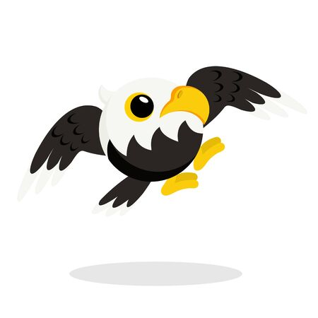 eagle in flat style vector image