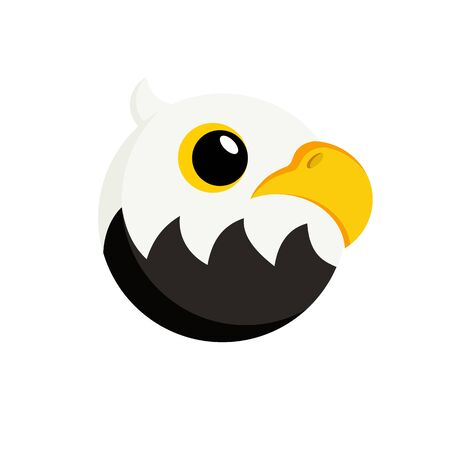 icon eagle in flat style vector image Stock Illustratie