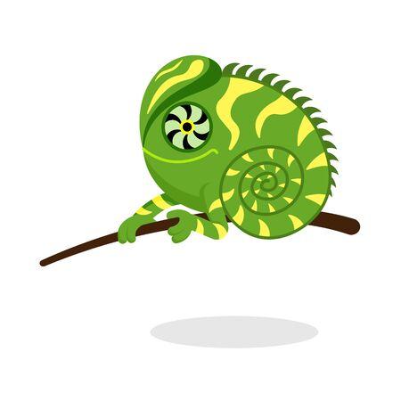 iguana in flat style vector image