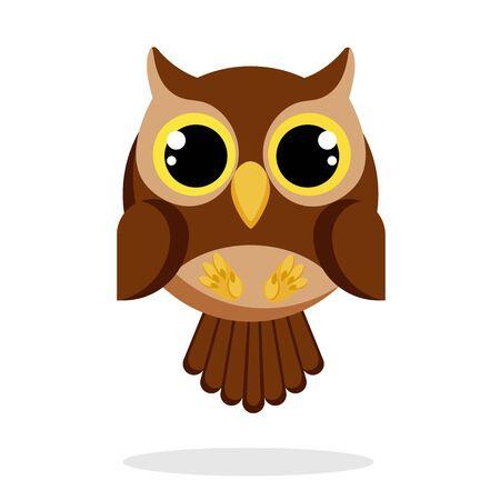 owl in flat style vector image Ilustração