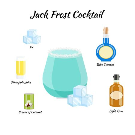 recipe of Jack Frost cocktail whith ingredients
