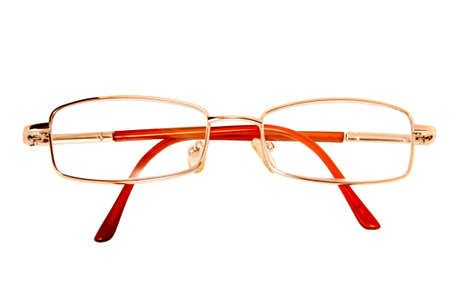 Isolated  eyeglasses in the red frame