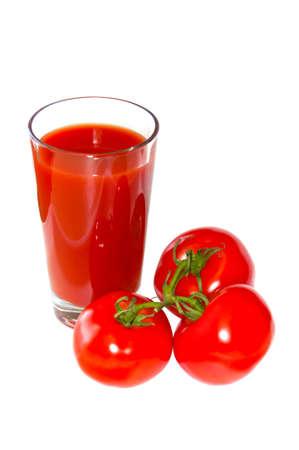 Fresh tomatoes ant tomato juice Stock Photo - 9146065