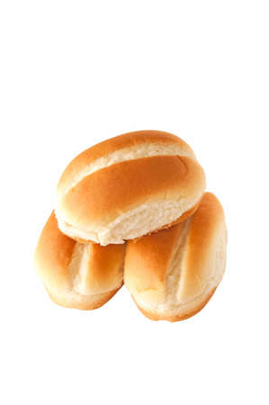 A group of isolated stacked small buns