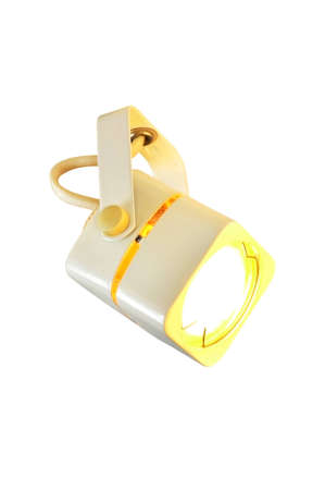 An incandescent lamp, projector, isolated on the white background
