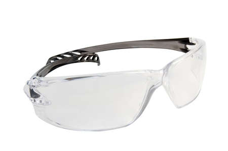 The isolated  plastic safety glasses