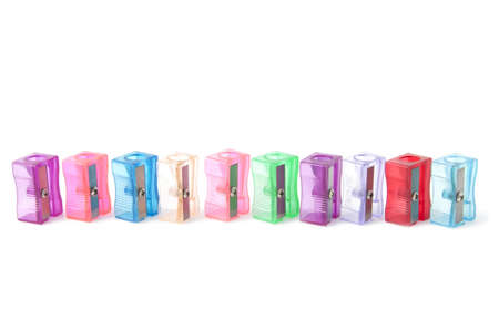 Pencil sharpeners isolated on the white background