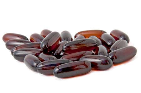 A heap of brown pills